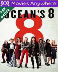 Ocean's 8 HD UV or iTunes Code via MA (PRE-ORDER WILL EMAIL ON OR BEFORE BLU RAY RELEASE DATE)