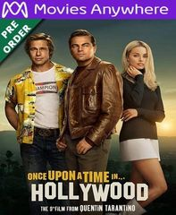 Once Upon A Time In Hollywood HD Vudu or iTunes Code via MA (PRE-ORDER WILL EMAIL BETWEEN Dec. 10th - Dec. 12th)