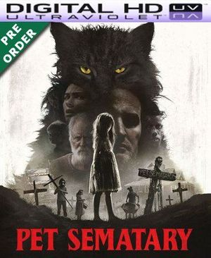 Pet Sematary 2019 HD Vudu Code (PRE-ORDER WILL EMAIL ON OR BEFORE BLU RAY RELEASE)