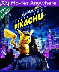Pokemon Detective Pikachu HD Vudu or iTunes Code via MA (PRE-ORDER WILL EMAIL ON OR BEFORE BLU RAY RELEASE)