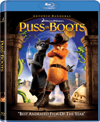 Puss In Boots Blu-ray Rental (USED)