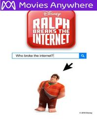 Ralph Breaks The Internet  HD UV or iTunes Code via MA