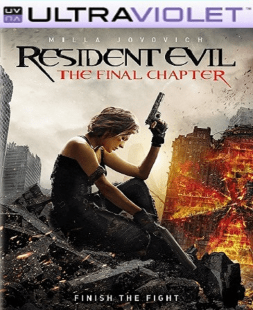Resident Evil: The Final Chapter SD Digital Ultraviolet UV Code