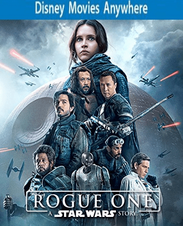 Rogue One: A Star Wars Story DMA Code, Vudu or iTUNES FULL CODE