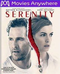 Serenity 2019 HD UV or iTunes Code via MA