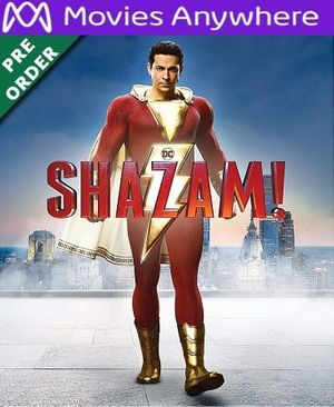 Shazam! HD Vudu or iTunes Code via MA (PRE-ORDER WILL EMAIL ON OR BEFORE BLU RAY RELEASE)