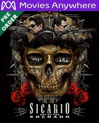 Sicario: Day Of The Soldado HD UV or iTunes Code via MA (PRE-ORDER WILL EMAIL ON OR BEFORE 9-25-18)