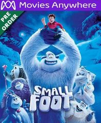 Smallfoot HD UV or iTunes Code via MA (PRE-ORDER WILL EMAIL ON OR BEFORE 12-11-18)