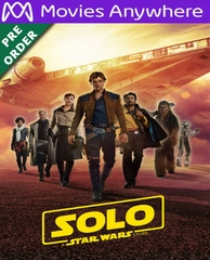 Solo: A Star Wars Story HD UV or iTunes Code via MA (PRE-ORDER WILL EMAIL ON OR BEFORE 9-25-18)