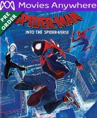 Spider-Man: Into the Spider-Verse HD UV or iTunes Code via MA (PRE-ORDER WILL EMAIL ON OR BEFORE BLU RAY RELEASE)