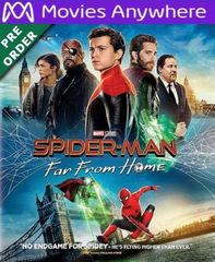 Spiderman Far from Home HD Vudu or iTunes Code via MA (PRE-ORDER WILL EMAIL ON OR BEFORE BLU RAY RELEASE)