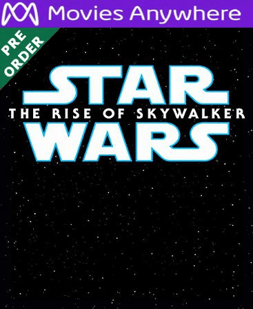 Star Wars: The Rise of Skywalker HD Vudu or iTunes Code via MA (PRE-ORDER WILL EMAIL ESTIMATED MARCH)