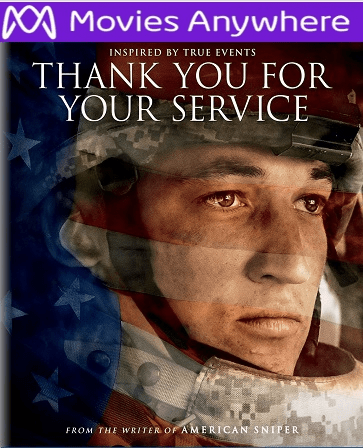 Thank You for Your Service HD UV or iTunes Code via Movies Anywhere