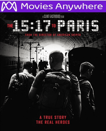 The 15:17 To Paris HD UV or iTunes Code  via MA