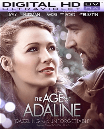 The Age Of Adaline HD Digital Ultraviolet UV Code