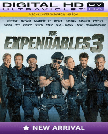 The Expendables 3 HD Digital Ultraviolet UV Code
