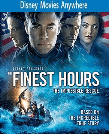 The Finest Hours HD DMA Disney Movies Anywhere Code, Vudu or iTUNES