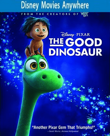 The Good Dinosaur HD DMA Disney Movies Anywhere Code