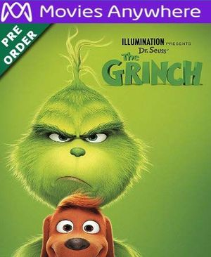 The Grinch HD UV or iTunes Code via MA (PRE-ORDER WILL EMAIL ON OR BEFORE BLU RAY RELEASE)