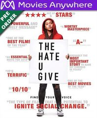 The Hate U Give HD UV or iTunes Code via MA (PRE-ORDER WILL EMAIL ON OR BEFORE BLU RAY RELEASE)