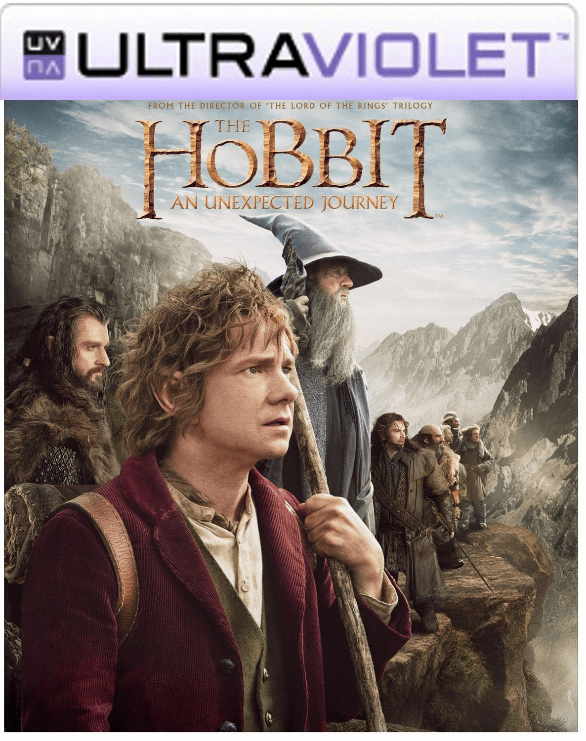 The Hobbit An Unexpected Journey SD UltraViolet UV Code