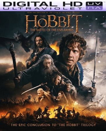 The Hobbit The Battle of the Five Armies HD Digital Ultraviolet UV Code