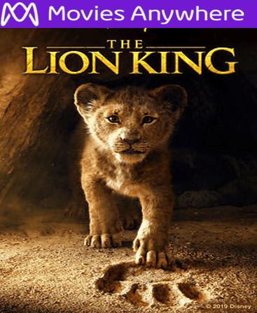 The Lion King 2019 HD Vudu or iTunes Code via MA