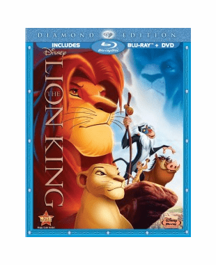 The Lion King Diamond Edition Blu-ray DVD Combo
