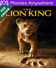 The Lion King 2019 HD Vudu or iTunes Code via MA (PRE-ORDER WILL EMAIL ON OR BEFORE BLU RAY RELEASE)