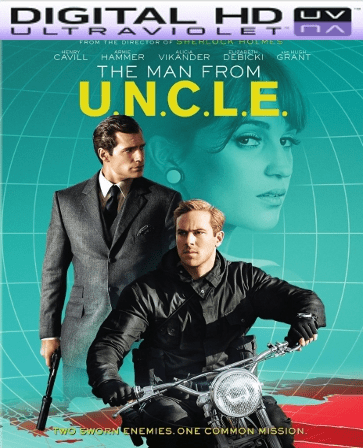 THE MAN FROM U.N.C.L.E HD Digital Ultraviolet UV Code (VUDU)