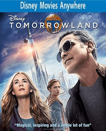 Tomorrowland HD DMA Disney Movies Anywhere Code, Vudu or iTUNES