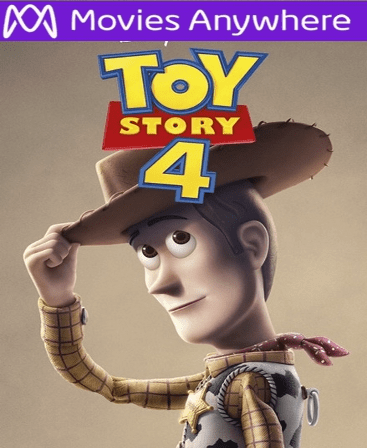 "Toy Story 4 HD Vudu or iTunes Code via MA ( USE PROMO CODE ""Toy"" FOR $2 OFF)"