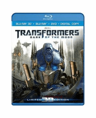 Transformers Dark Of The Moon Blu-ray 3D + Blu-ray + DVD + Digital Copy