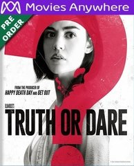 Truth Or Dare HD UV Code (PRE-ORDER WILL EMAIL ON OR BEFORE BLU-RAY RELEASE DATE)