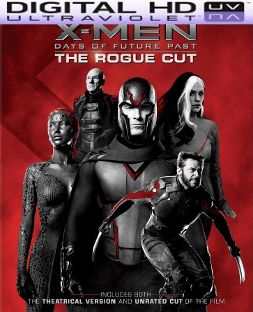 X Men Days of Future Past the Rogue Cut HD Digital Ultraviolet UV Code or iTunes