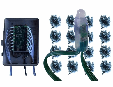 12V - 16x100 Bullet Pixel Package with Pixie16 Controller