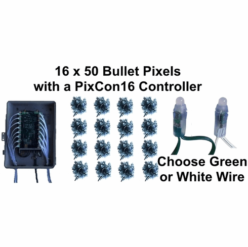 12V - 16x50 Bullet Pixel Package with PixCon16 Controller