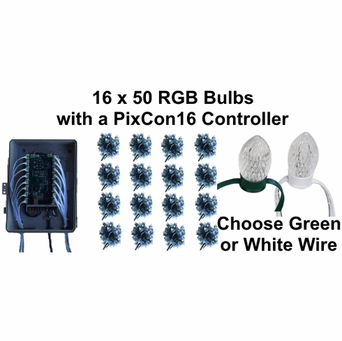 12V - 16x50 RGB Bulb Package with PixCon16 Controller