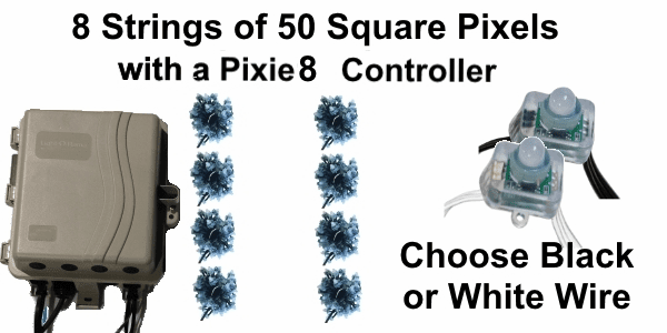 12V - 8x50 Square Pixel String Package with Pixie8 Controller