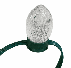 12V Green Bulbs 50 Count With End Connector