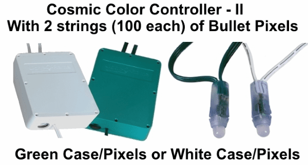(NEW CCP+) Cosmic Color Controller II with 2 Strings of 100 Bullet Pixels