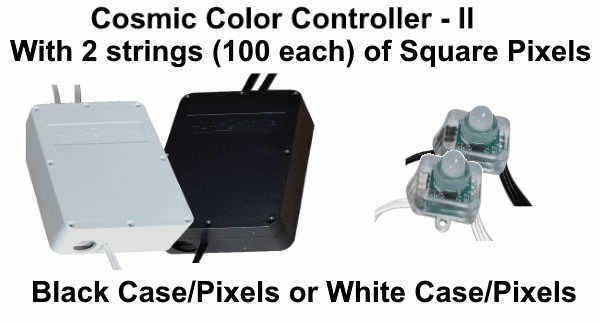 (NEW CCP) Cosmic Color Controller II with 2 Strings of 100 Square Pixels