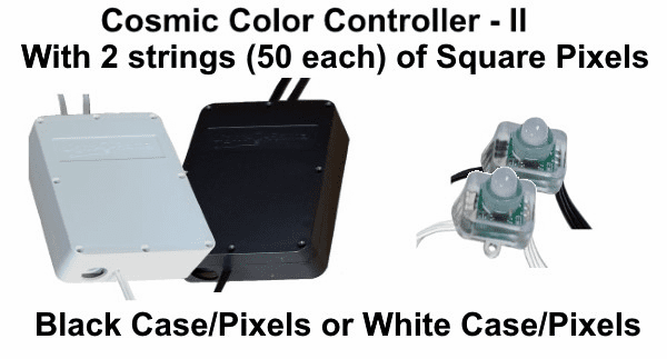(NEW CCP) Cosmic Color Controller II with 2 Strings of 50 Square Pixels