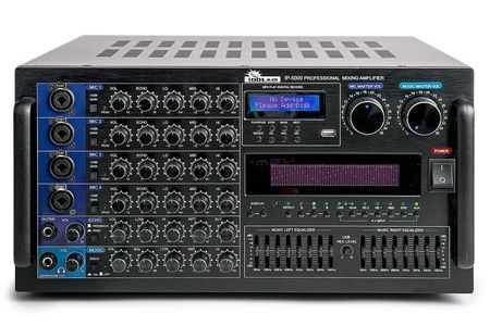 IDOLmain IP-5000 6000W Professional Digital Karaoke Mixing Amplifier LED Graphic Spectrum Equalizer & Audio Processor With Feedback Reduction