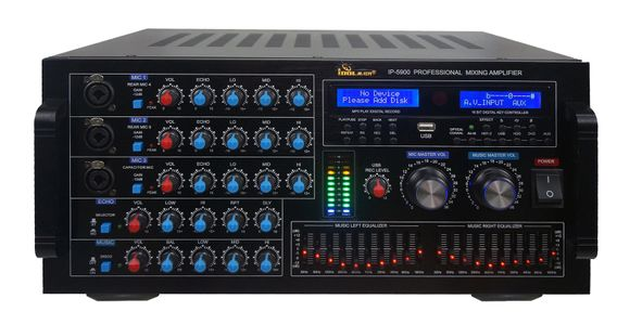 "IDOLmain IP-5900 6000W Digital Echo Karaoke Mixing Amplifier With Repeat/Delay Control, HDMI/Optical Inputs <font color="" orange""><b>NEW 2020</b></font>"