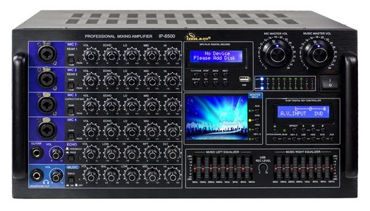 IDOLmain IP-6500 6000W Karaoke Mixing Amplifier /w Digital Sound Effects And Optical Input