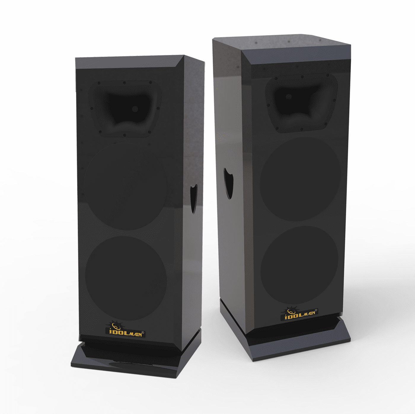 """IDOLmain IPS-DELUXE II Professional Premium Full-Range Floor Standing 12"""" 3000W Speakers With Piano Finished <font color="""" orange""""><b>NEW 2019 </b></font>"""