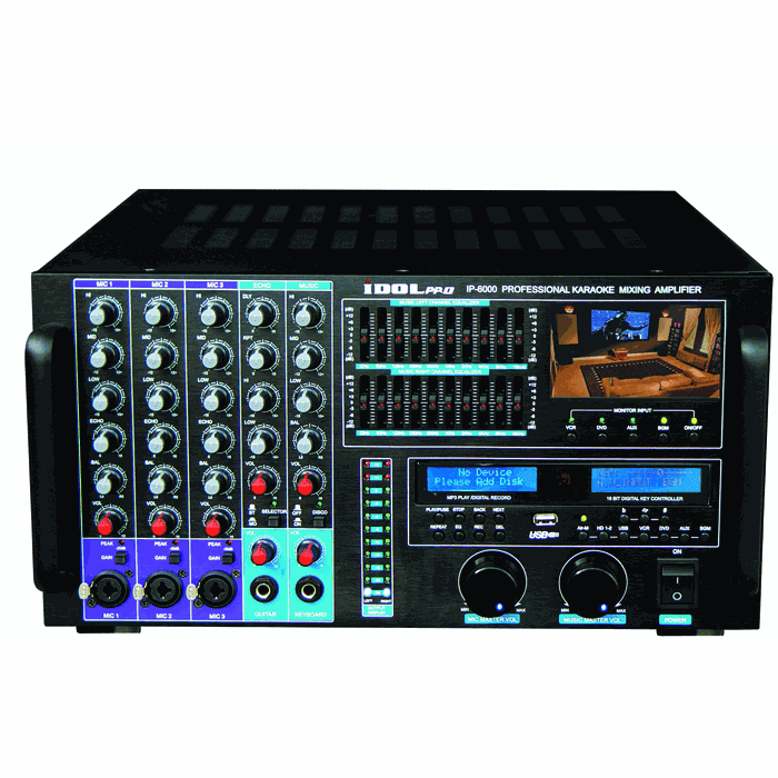 "IDOLpro 1500W IP-6000 Bluetooth/HDMI/Recording/LCD Screen/10 Band Equalizer Professional Console Mixing Amplifier  <font color="" orange""> Discontinued </font>"