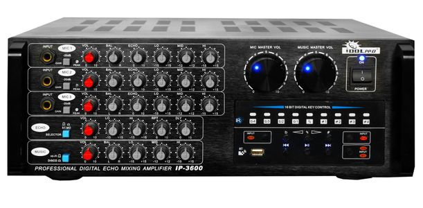 "IDOLpro IP-3600 Professional  Digital Echo Mixing Amplifier With Bluetooth & Recording  <font color="" orange""><b>Discontinued</b></font>"