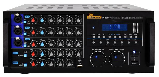 """IDOLpro IP-3900 2600W Mixing Amplifier with Built-in Equalizer, Bluetooth, HDMI, Optical Input, Recording <b><font color="""" orange"""">NEW 2021 </font> </b>"""